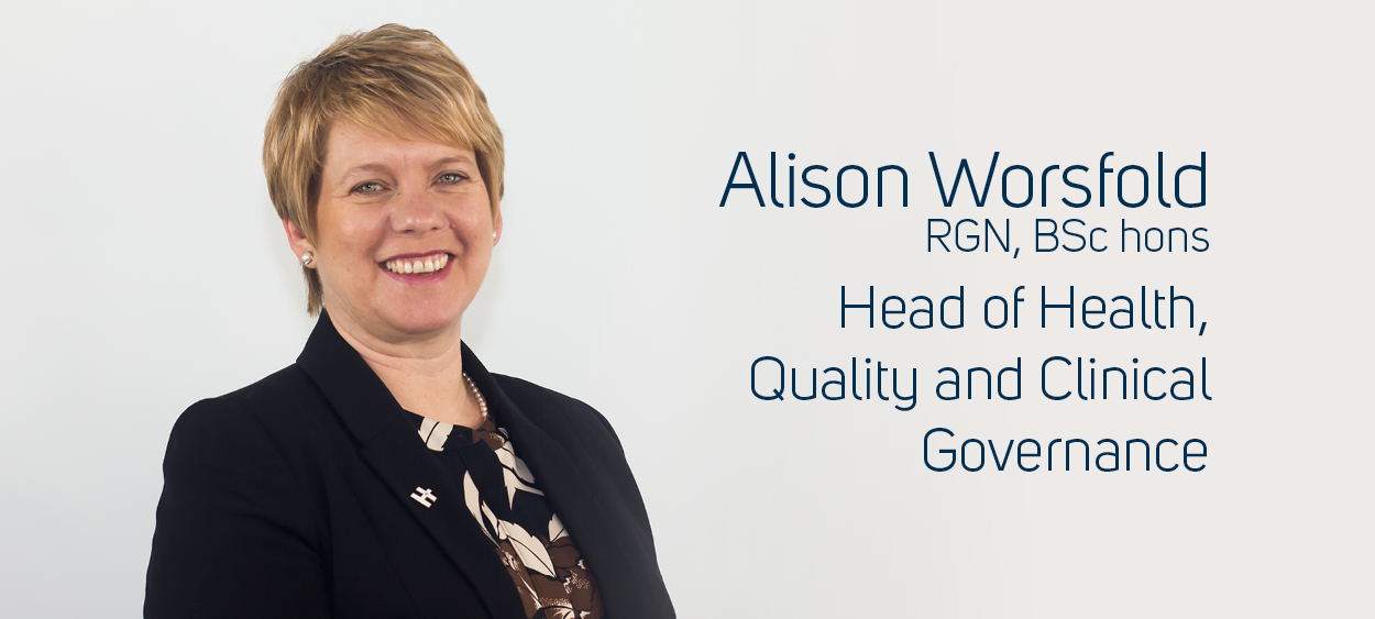 Alison Worsfold Head of Health, Quality and Clinical Governance