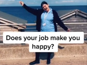 Does your job make you happy? That's the theme of the latest recruitment campaign from Hilton Nursing Partners.
